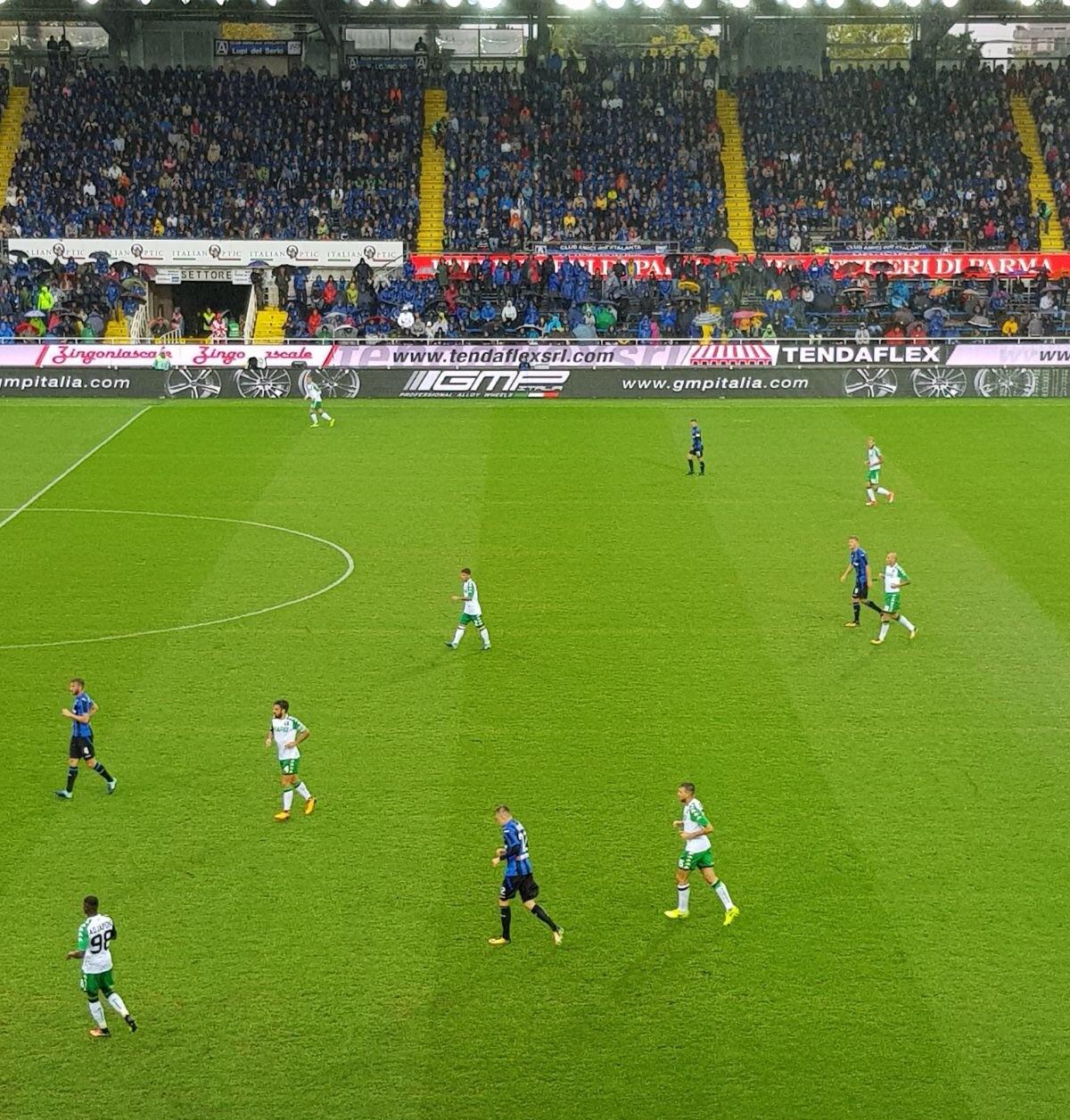GMP Italia è executive partner allo stadio nella partita Atalanta - Sassuolo