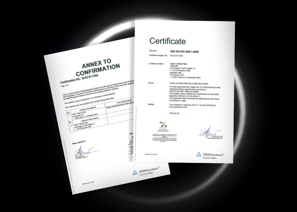 Qualità certificata, riconosciuta globalmente.